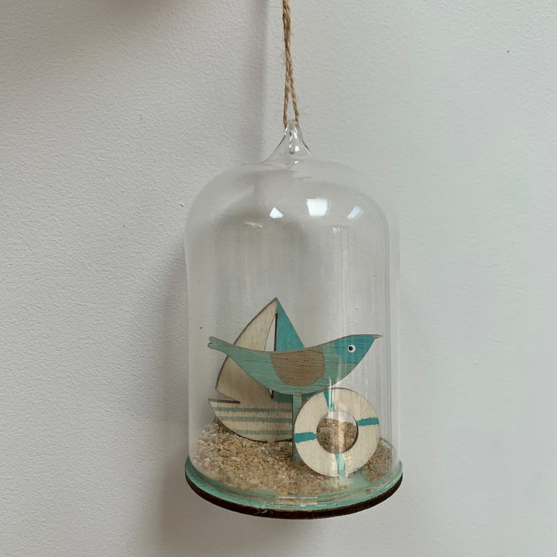 Glass Dome - Bird with Yacht