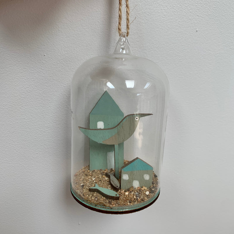 Glass Dome - Bird with House