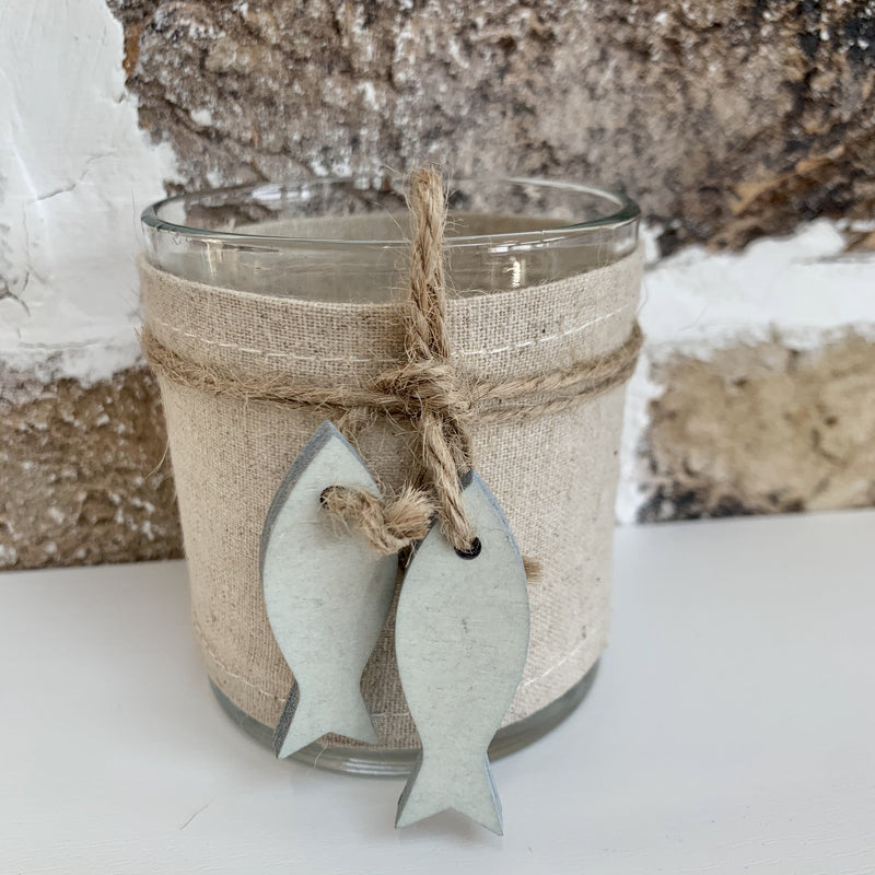Tealight Holder with Blue Fish