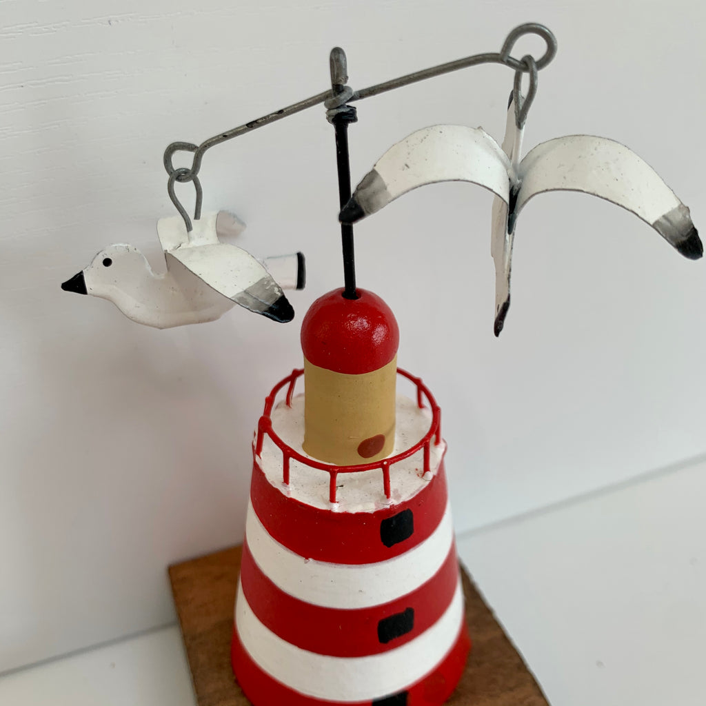 Red Metal Lighthouse