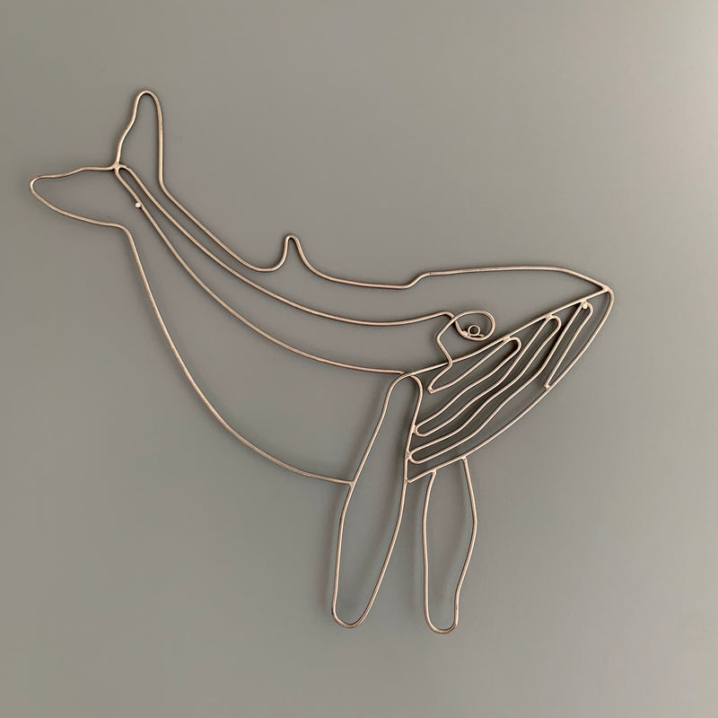 Metal Humpback Whale Wall Art