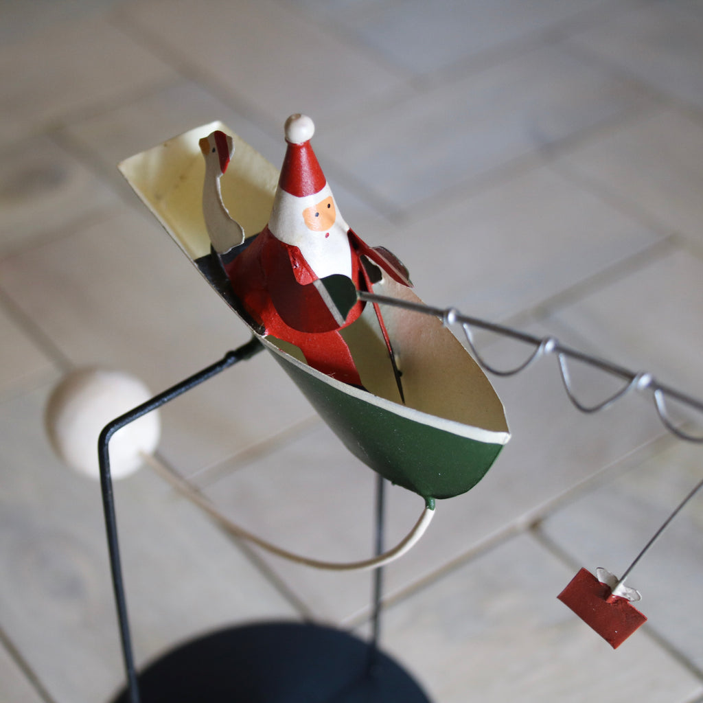 Kinetic Fishing Father Christmas