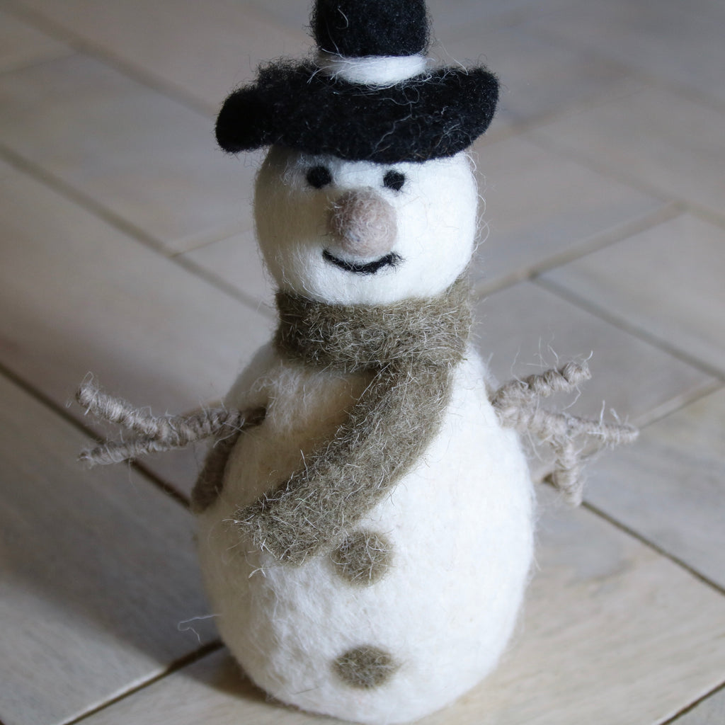 Hand Felted Jolly Snowman