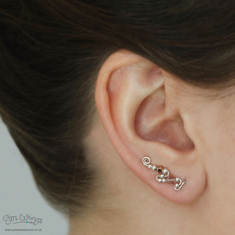 Ear Wings 'Love' 925 Sterling Silver