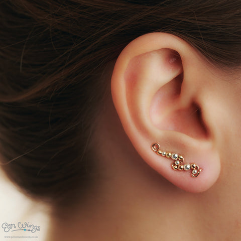 Ear Wings 14ct Rose Gold Filled Mix of Metals