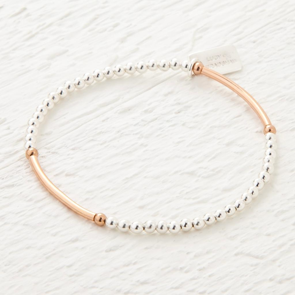 Saffron Sterling Silver and Rose Gold Bracelet