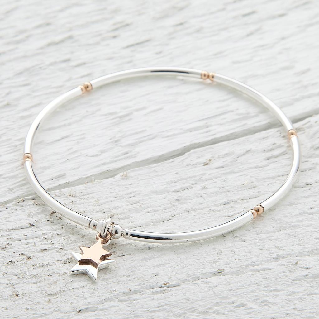 Cassiopeia Sterling Silver and Rose Gold Bracelet