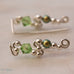 Ear Wings 925 Sterling Silver with Swarovski Peridot Crystals