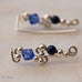 Ear Wings 925 Sterling Silver with Swarovski Sapphire Crystals