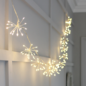 Starburst Fairy Lights - Silver - Mains Powered