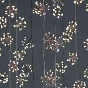 Starburst Fairy Lights - Black - Mains Powered