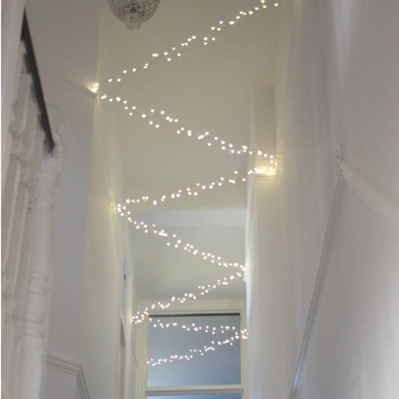 15M Silver Cluster lights - Mains Powered