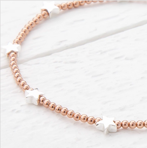 Trixabelle Sterling Silver and Rose Gold Bracelet