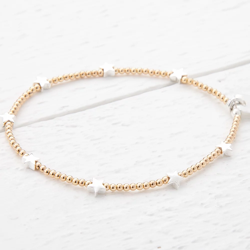 Trixabelle Sterling Silver and Yellow Gold Bracelet