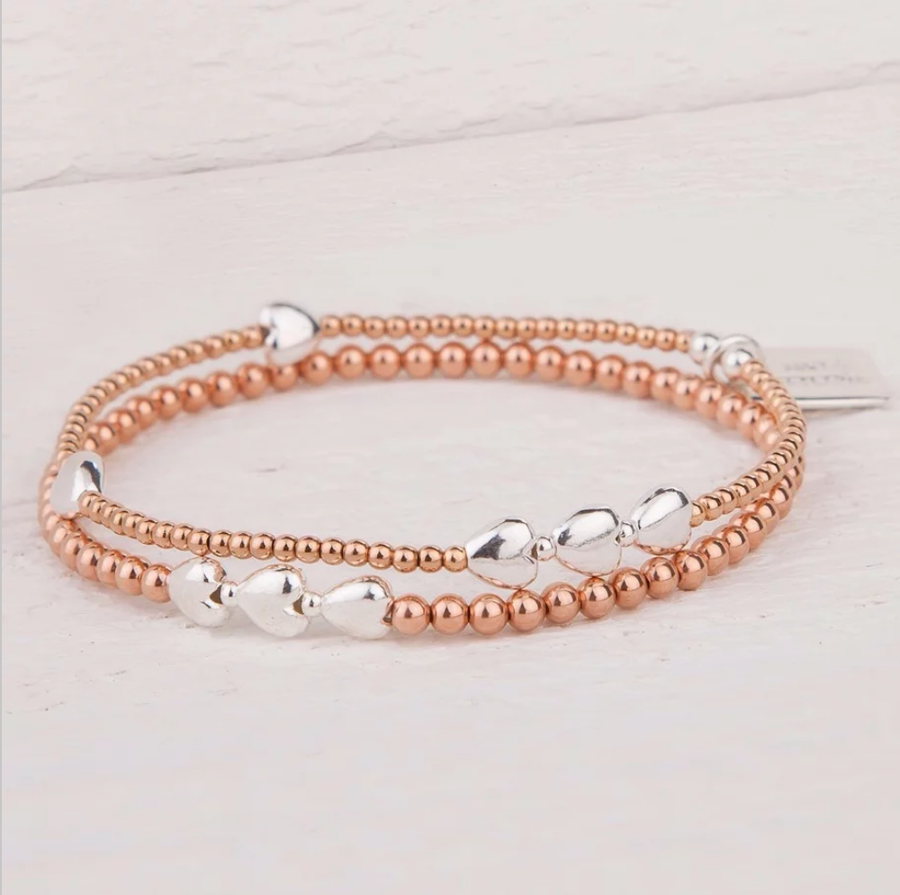 Isabella Sterling Silver and Rose Gold Bracelet