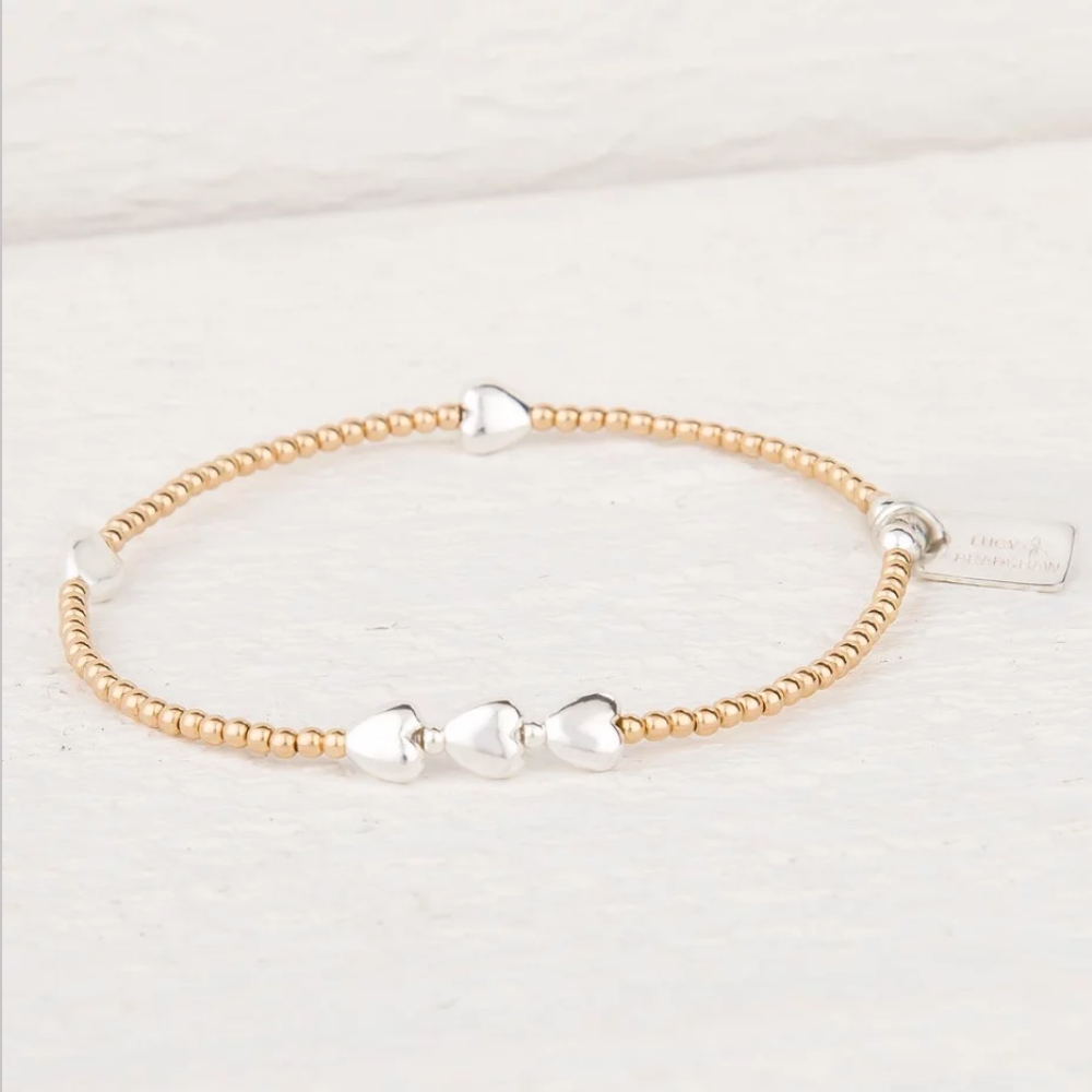 Isabella Sterling Silver and Yellow Gold Bracelet
