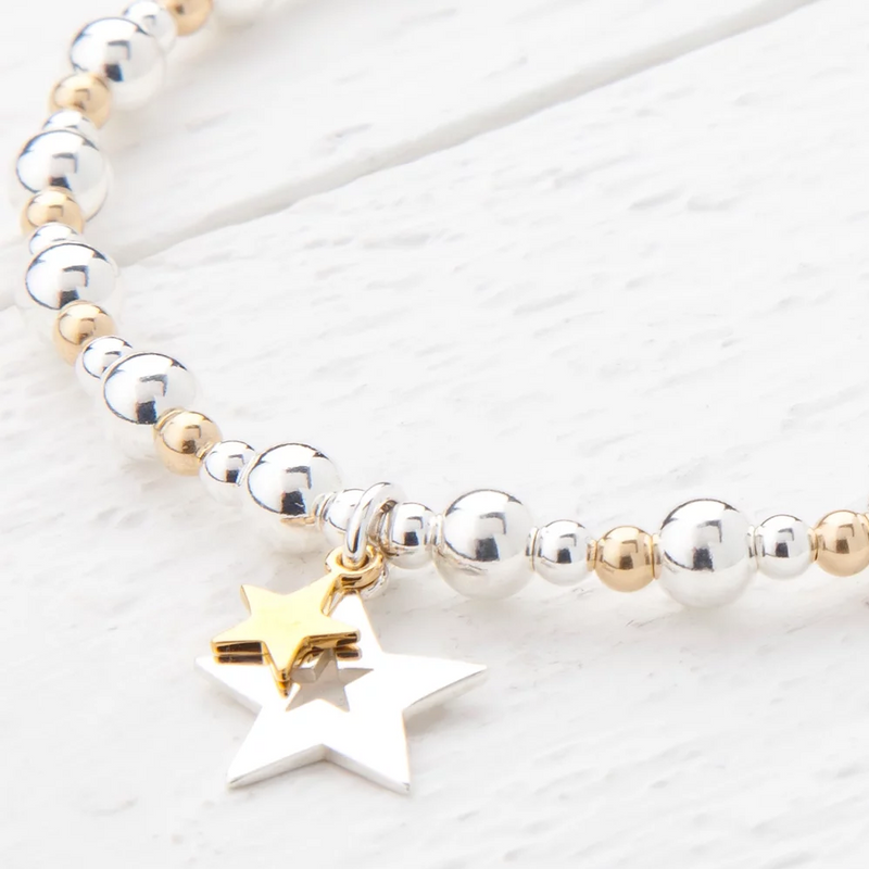 Phoebe Sterling Silver and Yellow Gold Bracelet