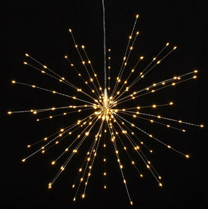 Silver Starburst Light - 50CM - Silver