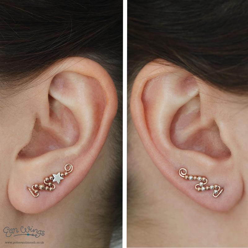 Ear Wings 'Shooting Star' 14ct Rose Gold