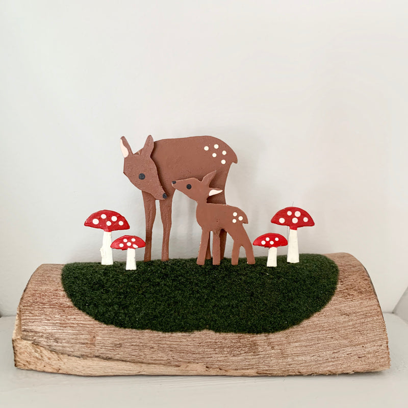 Fawns with Toadstools