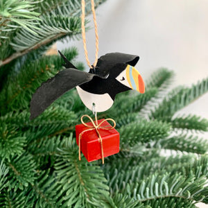 Puffin with Gift