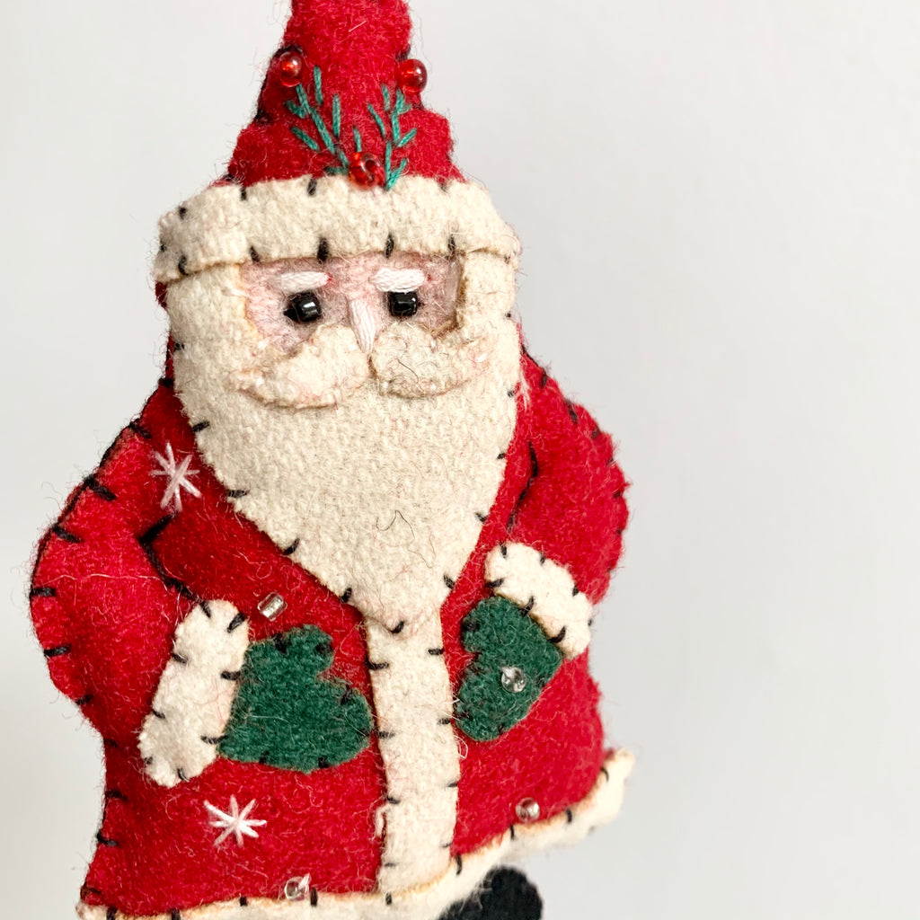 Small Fabric Santa Claus