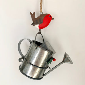 Robin on Watering Can