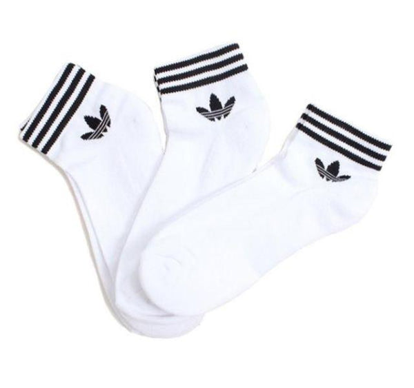 Meia Adidas Originals Ankle Stripes Branca