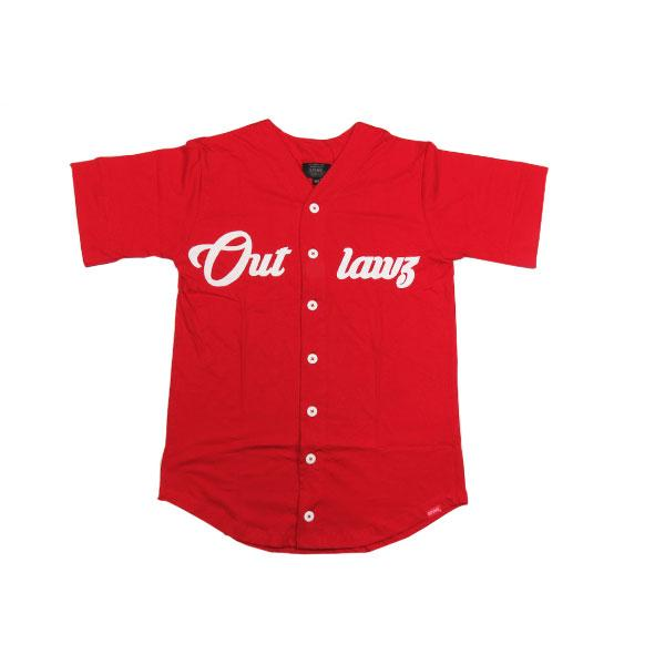 Camisa Outlawz Baseball Self-Made Vermelho