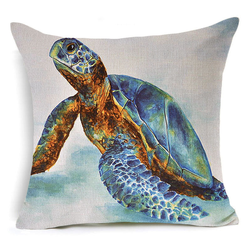 Lovely Sea Turtle Throw Pillow Cover – The Bliss Tree AD02