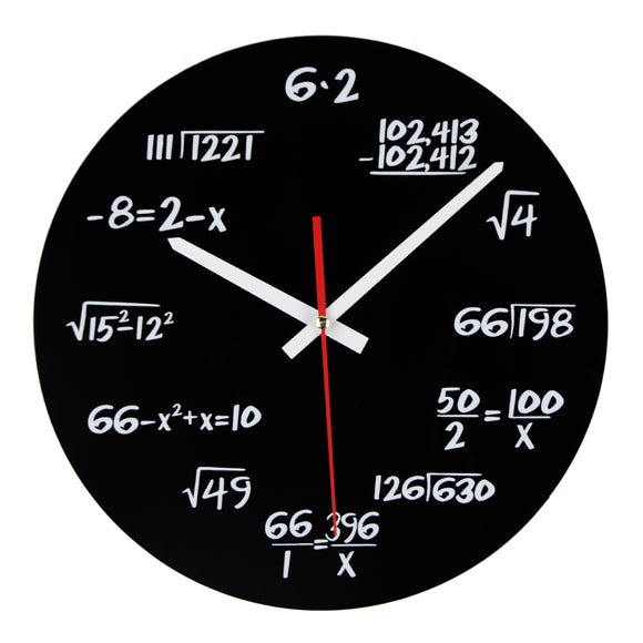 Math Lovers Equation Wall Clock