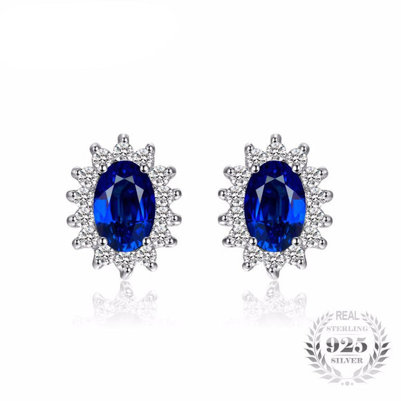 Princess Diana Engagement Inspired Blue Sapphire Earrings
