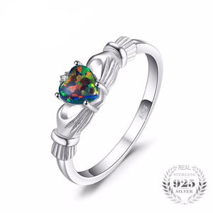 Irish Claddagh Rainbow Ring
