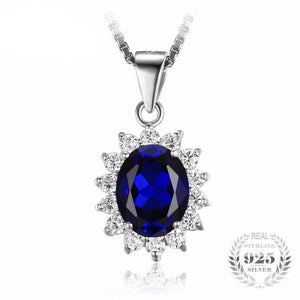 Princess Diana William Engagement Inspired Blue Sapphire Pendant