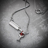 """Pour Me A Glass"" Wine Lovers Pendant Necklace"
