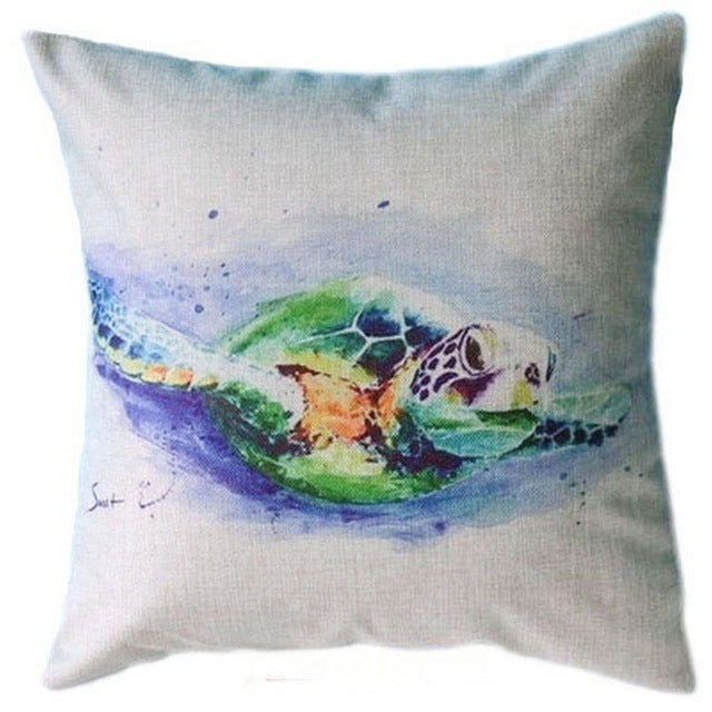 Well-liked Sea Turtle Throw Pillow Cover – The Bliss Tree KN61