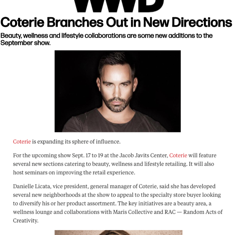 Coterie Branches Out in New Directions