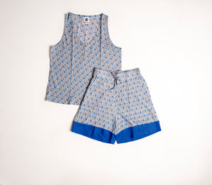 Hel-mer - Kintamani Short Set Blue
