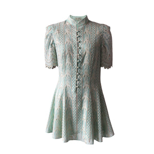 De Castro - Mint Chikan Dress