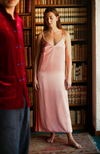 Yali - Orange/Pink Silk Slip-On Dress