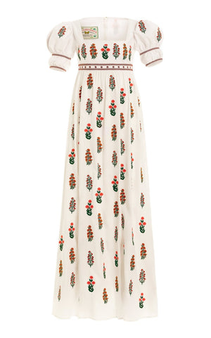 Agua Bendita - Pistachio Dahlia Maxi Dress