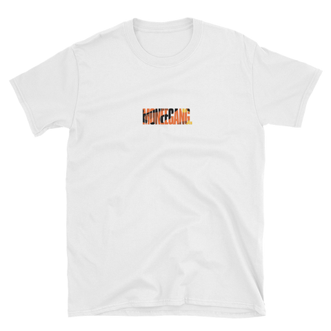MONEEGANG. Orange Camo T-Shirt