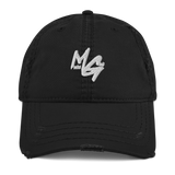 Distressed MONEE GANG Dad Hat (White Logo)