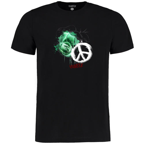"Green ""Rose Peace"" T-Shirt"