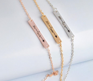 Love Bar Necklace Gold