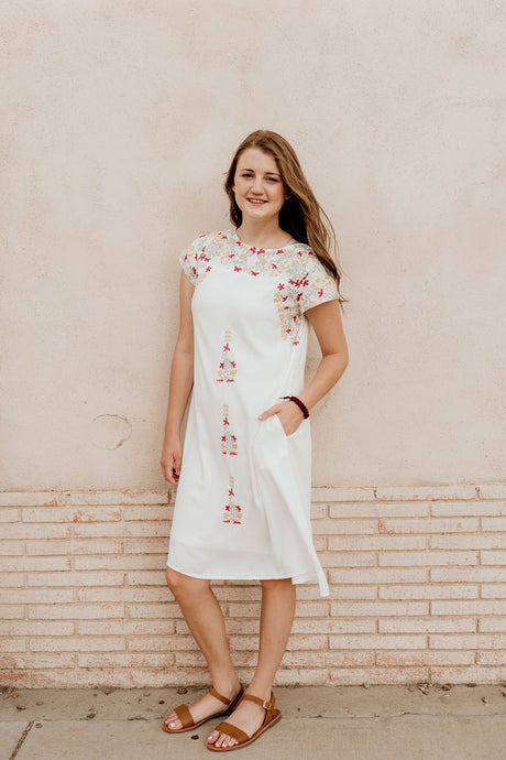 Kyla Embroidered Dress