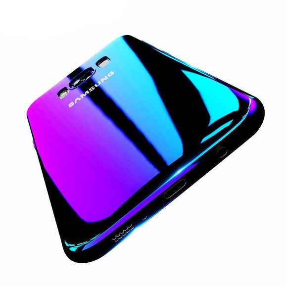 Beautiful Luxury Protective Blue Ray Plastic Case For Samsung and iPhone Devices