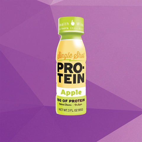 Protein Single Shot - Apple -  4 Bottles Pack