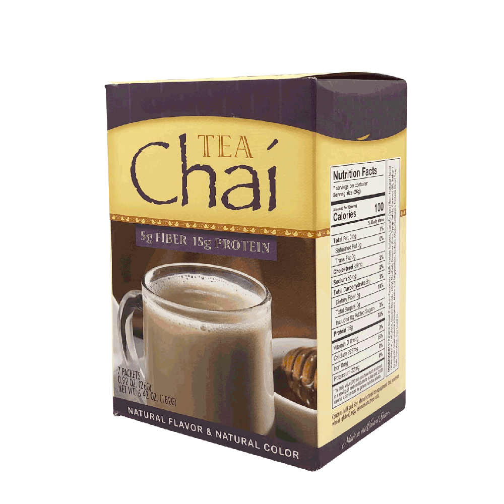Chai Tea with Fiber- High Protein Decaffeinated - 7/Box
