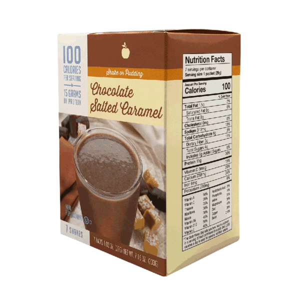 Meal Replacement Chocolate Salted Caramel Shake - 100 Calories